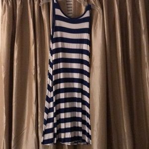 Striped dress.